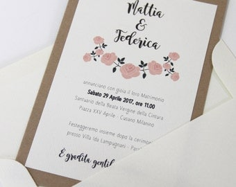 Rustic Wedding Rustic Wedding Invitation Chis-Participation-Shabby