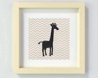 Safari Animals Nursery Print, Nursery Wall Art, Giraffe Nursery Print, Giraffe Nursery Art, Giraffe Print, Safari Nursery, Giraffe Art Print