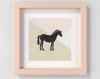 Horse Print, Pony Nursery Print, Pony Print, Horse Nursery Decor, Pony Art, Pony Decor, Gift for Baby, Baby Shower Gift, Playroom Art