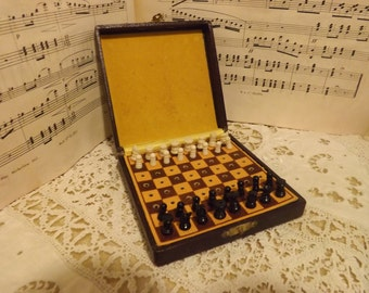 Old miniature chess set