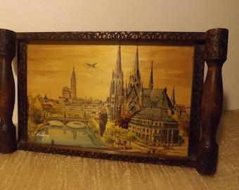 Tray old wooden village of Strasbourg