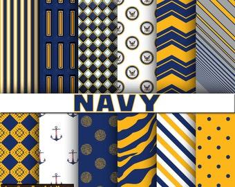 Navy digital paper, scrapbook, background paper