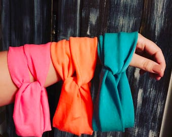 Neon Turbans   Bright Colors   Pink   Orange   Blue/Green