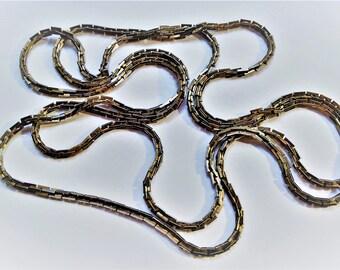 Long vintage chain necklace
