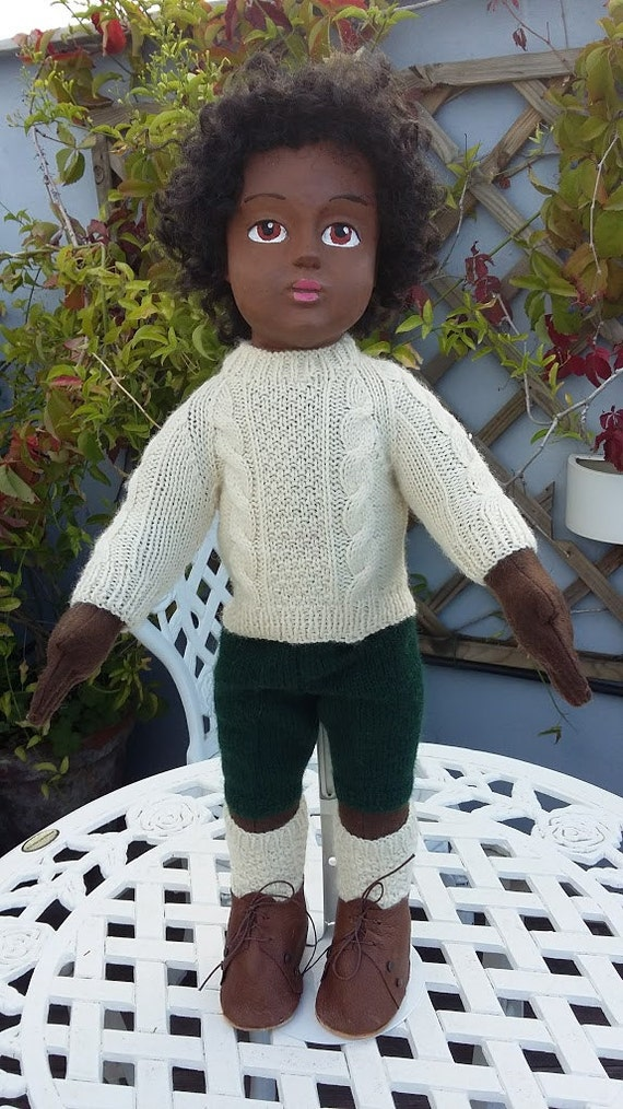Aran jumper with soks for 18 inch dolls