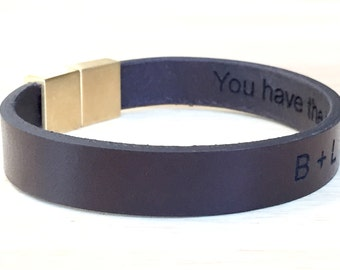 Men's Leather bracelet,Hidden Message Bracelet,Personalized Leather Bracelet,Custom Leather Bracelets,Men's Bracelet,Stainless Bracelet