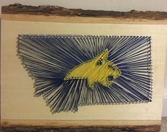 Montana State Bobcats String Art