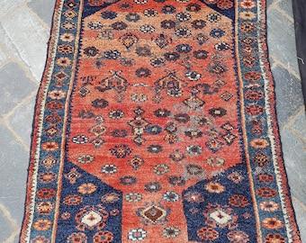 Lovely Traditional Vintage Persian Wool 3.3 X 4.9 Oriental Rug Handmade Carpet Rugs