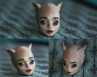 Rochelle Goyle Pretty OOAK Monster High Repaint Doll HEAD ONLY