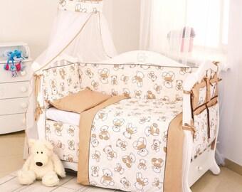 "Baby bedding crib set ""Bears"""