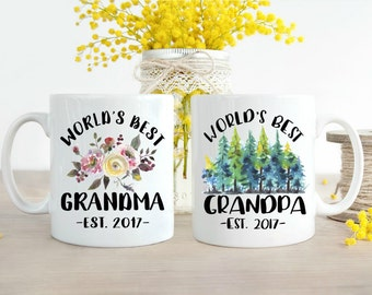 Grandparent Mugs, Pregnancy Reveal to Grandparents, New Grandparents, Pregnancy Announcement Grandparents, Soon to be Grandparents, Mug Set