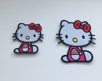 "Cartoon ""Hello Kitty"" Clothing Patch  (two sizes)"