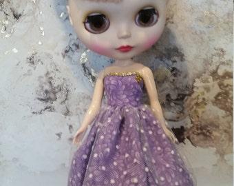 Blythe Dress – Lavender Spot – Handmade