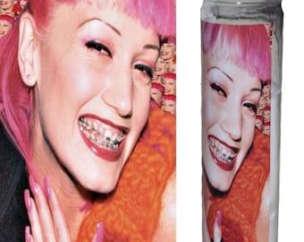 Gwen Stefani Prayer Candle / No Doubt Prayer Candle / Eco friendly Sustainable Pop Culture Feminist Gwen Stefani Prayer Candle / No Doubt