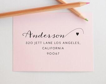 Self Inking Return Address Stamp, Custom Address Stamp, Family Address Stamp, Personalized Address Stamp, Calligraphy Address Stamp, Gifts