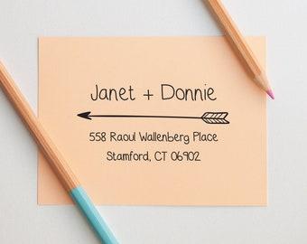 Address Stamp, Arrow Return Address Stamp, Custom Address Stamp Self Inking, Wedding Address Stamp, ouple Address Stamp, Self Ink Stamp,Gift