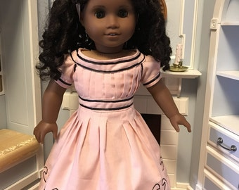 Pink Cape Island style Dress for 18inch dolls