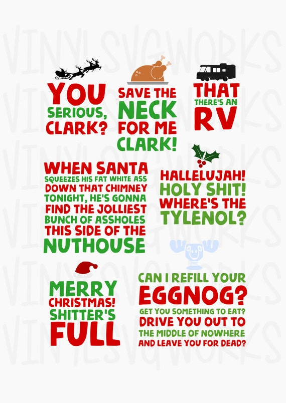 Christmas Vacation SVG FILE PACK