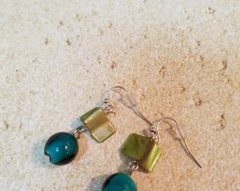 Sale Green earrings