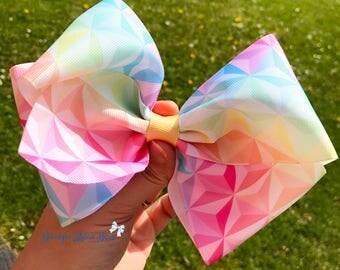Pastel aztec boutique bow, ribbon, jojo bow style, clip, girl,