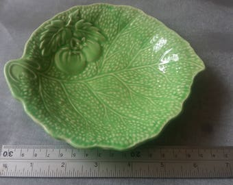 Vintage Crown Devon leaf dish, retro