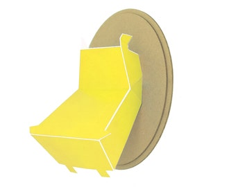 Trophy paper - Hippo head - yellow