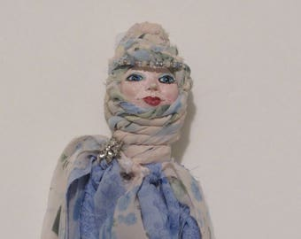 OOAK Art Doll, Handmade Art Doll, Folk Art Doll, Mixed Media Doll, Wall Art, Spirit Doll...dh