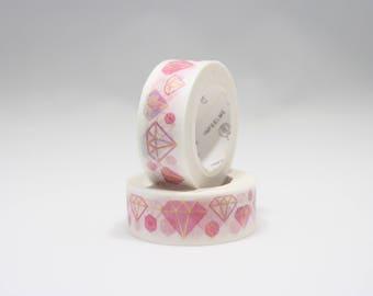 Pink Diamonds Washi - 15mm x 7m