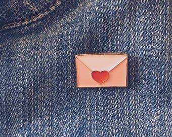 Pink Envelope Pin