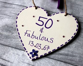 50 and fabulous-50th birthday gift for women-50th birthday gift-50th birthday-50th-50-50th Birthday Gift for Her - 50th Birthday Idea