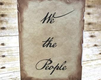 We the People patriotic postcard 6-card set