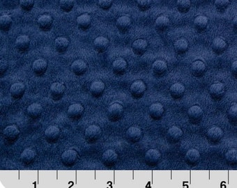 Minky Fabric By The Yard, Navy Minky Fabric, Navy Dot Minky Fabric, Navy Cuddle Minky, Shannon Minky Fabric, Sold By The Yard