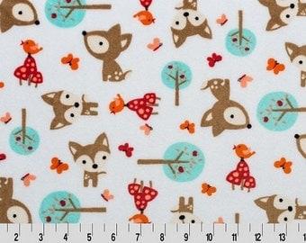 Shannon Minky Fabric, Oh Deer Cuddle Minky, Minky Fabric, Minky Fabric By The Yard, Deer Cuddle Minky