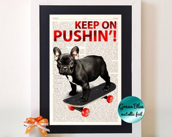Skater Dog,dictionary art print, home decor, dictionary art quote, wall decor, old dictionary print, old dictionary decor N34