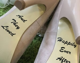 """Wedding Shoes """"And they Lived Happily Ever After"""" Decal"""
