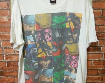 RARE Vintage MARVEL Shirt Mad Engine T-Shirts Superhero Marvel