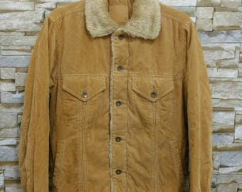 MEGA SALE Vintage Uniqlo Sherpa Jacket Corduroy Japan Rare Size Medium