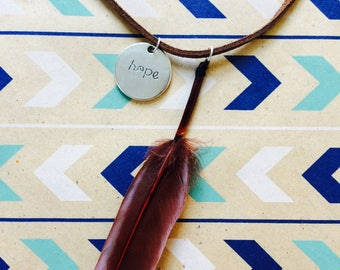 Hope Feather Necklace