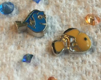 Nemo and Dory Floating Charms