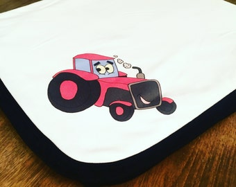 Red Tractor Blanket