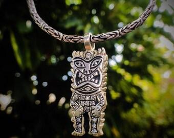 Tiki Silver Pendant