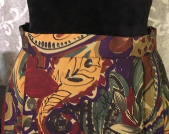 Vintage Skirt-90's Vintage Skirt-New Orleans Skirt-Size 14-Vintage Bottoms-Womens Vintage Clothing-Womens Skirts-Vintage Purple Skirt