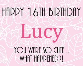 PVC Birthday Banner Personalised