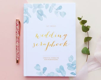 Botanical wedding planner book, engagement gift, wedding scrapbook, gift for brides, wedding checklist, wedding organizer, boho wedding