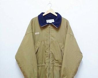 Hot Sale!!! Rare Vintage COLUMBIA Sportwear Company Reversible Fleece Lined Winter Parka Jacket Outdoor Men's Extra Large Size