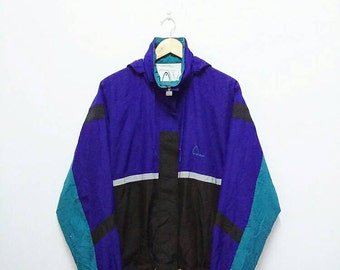 Hot Sale!!! Rare Vintage 90s HEAD Multicolour Windbreaker Hoodie Jacket Hip Hop Skate Swag Large Size