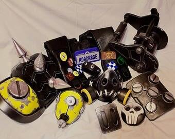 Cosplay Roadhog kit costum female version props mask craft