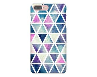 iPhone 6s 7 Plus Slim Snap Case Watercolour Geometric Triangle Purple Pink Green Purple Blue iPhone SE Samsung Galaxy S7 Edge S8 +