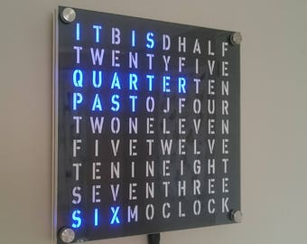 20cm Square Word Clock