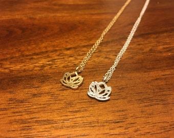 Lotus Necklace - Gold Lotus Necklace - Silver Lotus Necklace - Flower Necklace - Lotus Flower Necklace - Lotus - Lotus Jewelry - Lotus Charm